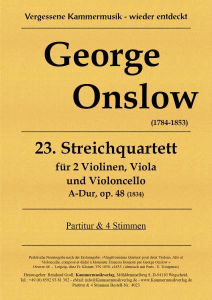 Onslow, George – Streichquartett Nr. 23, A-Dur, op. 48