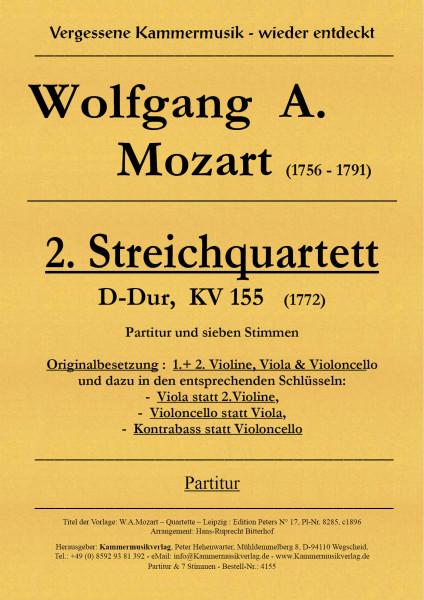 Mozart, Wolfgang Amadeus – Streichquartett Nr. 2