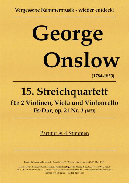 Onslow, George – Streichquartett Nr. 15, Es-Dur, op. 21-3