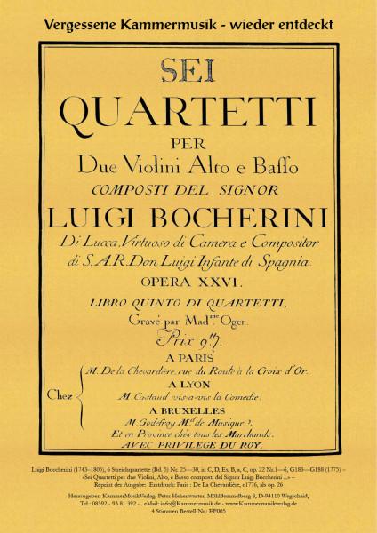 Boccherini, Luigi – 6 Streichquartette (Bd. 5) Nr. 25—30