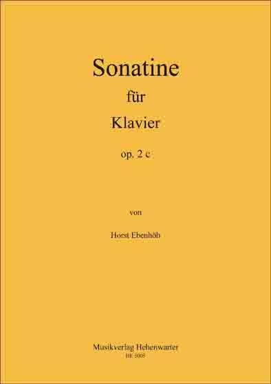 Ebenhöh, Horst – Sonatine für Klavier, op. 2 c