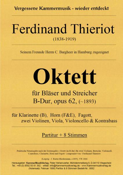 Thieriot, Ferdinand – Oktett für Bläser und Streicher, B-Dur, opus 62