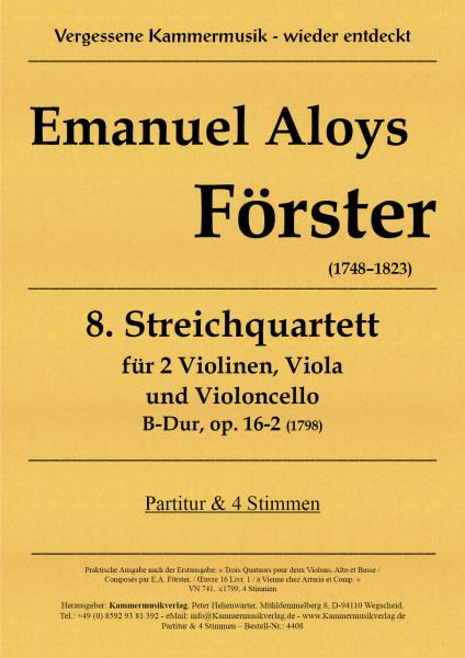 Förster, Emanuel Aloys – Streichquartett Nr. 8, B-Dur, op. 16-2