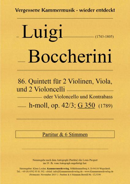 Boccherini, Luigi – 86. Quintett für 2 Violinen, Viola und 2 Violoncelli