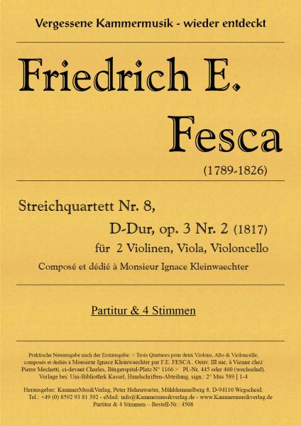 Fesca, Friedrich Ernst – Streichquartett Nr. 8, D-Dur, op. 3-2