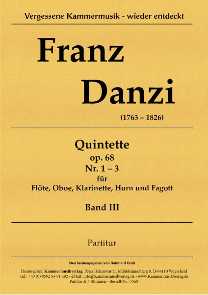 Danzi, Franz – 3 Bläserquintette Nr. 7-9