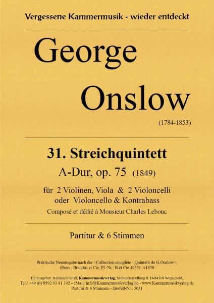 Onslow, George – Streichquintett Nr. 31, A-Dur, op. 75