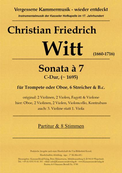Witt, Christian Friedrich – Bläser-Str.-Septett, C-Dur