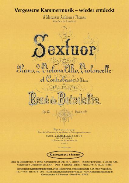 Boisdeffre, René de – Klaviersextett, B-Dur