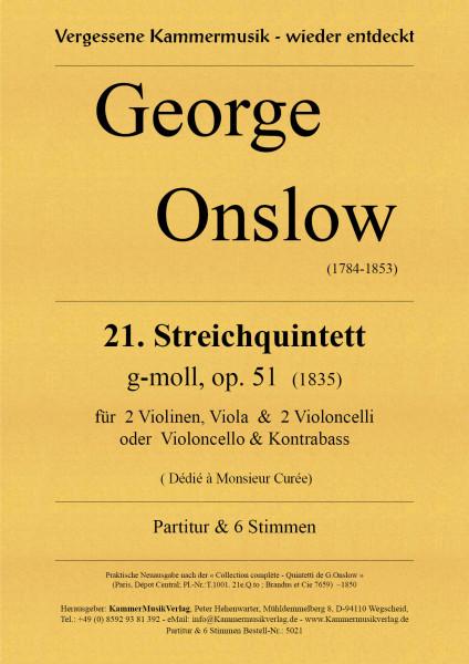 Onslow, George – Streichquintett Nr. 21