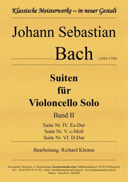 Bach, Johann Sebastian – Suiten für Violoncello Solo – Band II