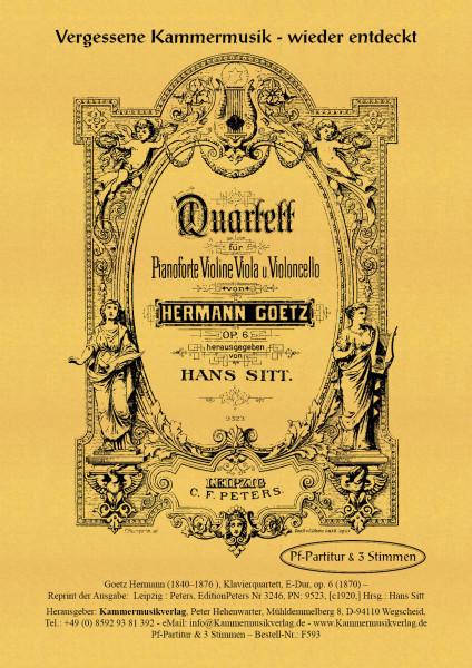 Goetz, Hermann – Klavierquartett, E-Dur, op. 6