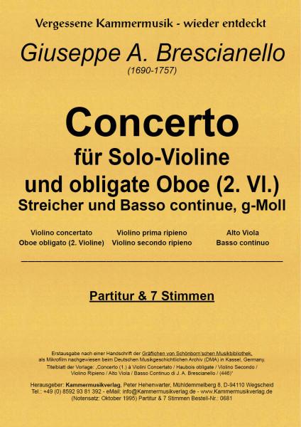 Brescianell, Giuseppe Antonio – Bläser-Streicher–Sextett g-Moll mit Oboe