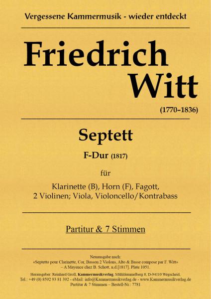 Witt, Friedrich – Septett F-Dur (1817) für Bläser und Streicher