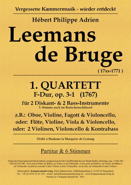 Leemans de Bruge, Hébert Ph. A. – Streichquartett Nr. 1, F-Dur, op. 3-1