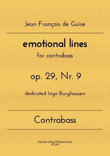 Guise, Jean François de – emotional lines for contrabass