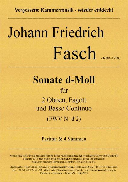 Fasch, Johann Friedrich – Sonate d-Moll für 2 Oboen, Fagott und Basso Continuo (FWV N: d 2)