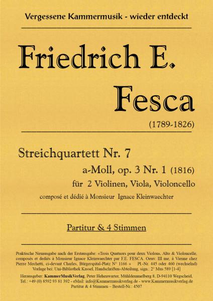 Fesca, Friedrich Ernst – Streichquartett Nr. 7, a-Moll, op. 3-1