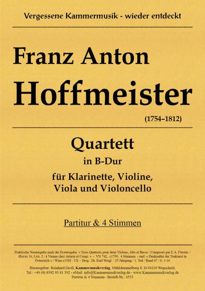 Hoffmeister, Franz Anton – Klarinettenquartett in B - Dur