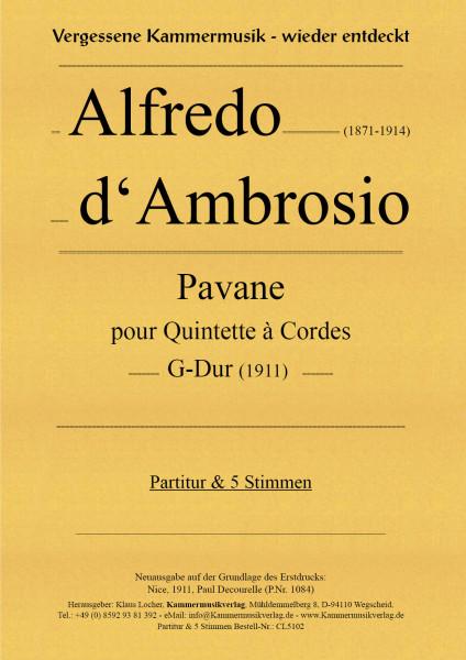 Ambrosio, Alfredo d' – Streichquintett, G-Dur