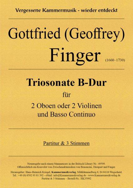 Finger Gottfried (Geoffrey) – Triosonate B-Dur
