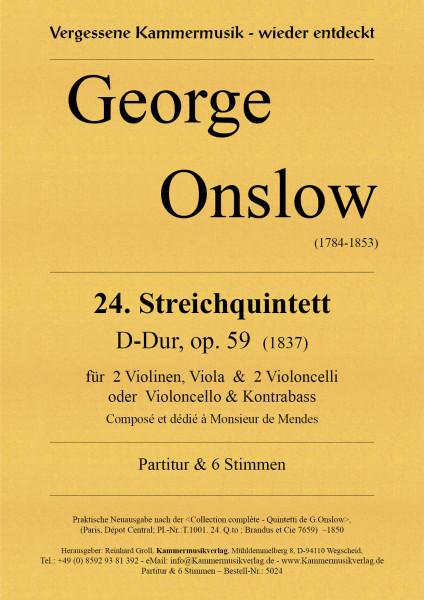 Onslow, George – Streichquintett Nr. 24, D-Dur, op. 59
