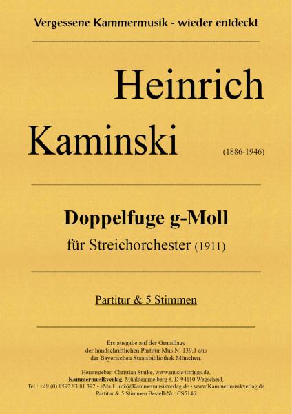 Kaminski, Heinrich – Doppelfuge g-Moll