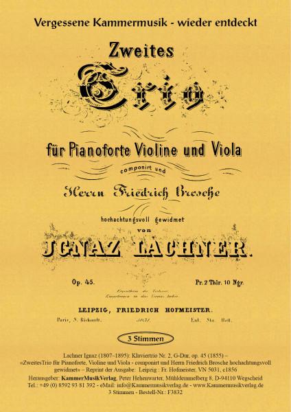 Lachner, Ignaz – Klaviertrio Nr. 2, G-Dur, op. 45