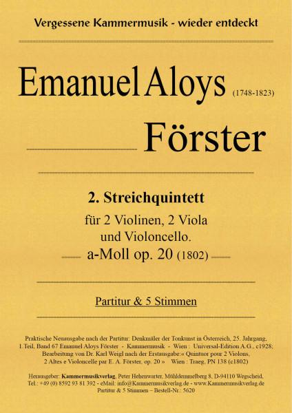 Förster, Emanuel Aloys – Streichquintett, a-Moll op. 20