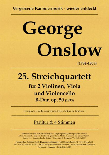 Onslow, George – Streichquartett Nr. 25