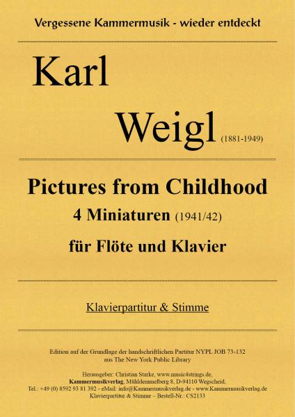 Weigl, Karl – Pictures from Childhood – 4 Miniaturen für Flöte und Klavier