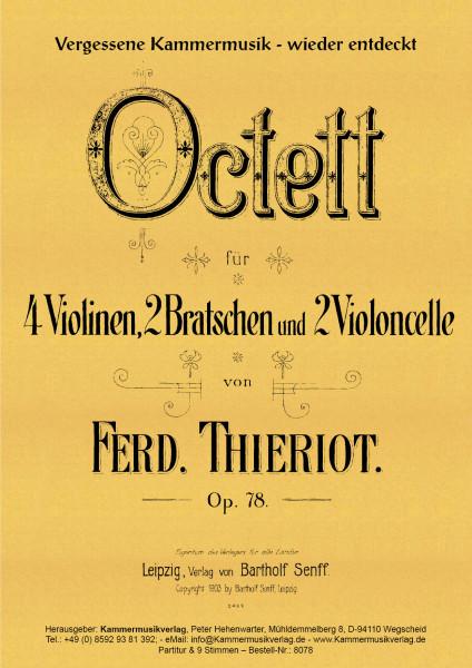 Thieriot, Ferdinand – Streichoktett, C-Dur, op. 78