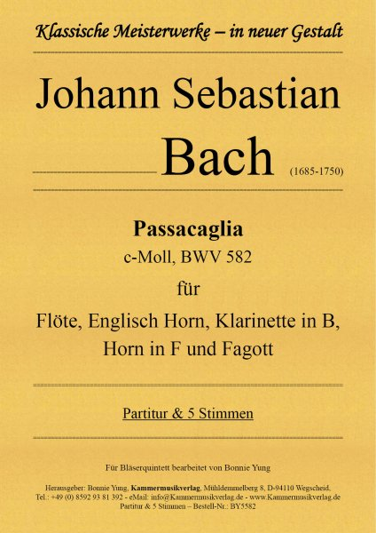 Bach, Johann Sebastian – Passacaglia in c-Moll