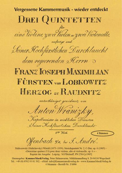 Maliszewski (Malichevsky), Witold – Streichquartett Nr. 2, C-Dur, op. 6
