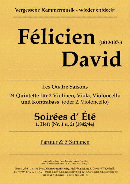 David, Félicien – Soirées d' Été 1. Heft (Nr. 1 u. 2)