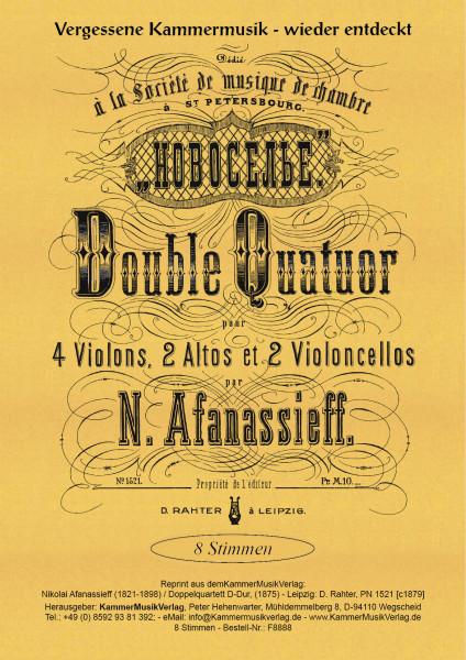 Afanassieff, Nikolai – Doppel-Quartett D-Dur