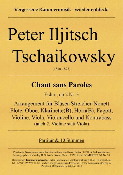 Tschaikowsky, Peter Iljitsch – Bläser-Streicher-Nonett, F-Dur, op. 2