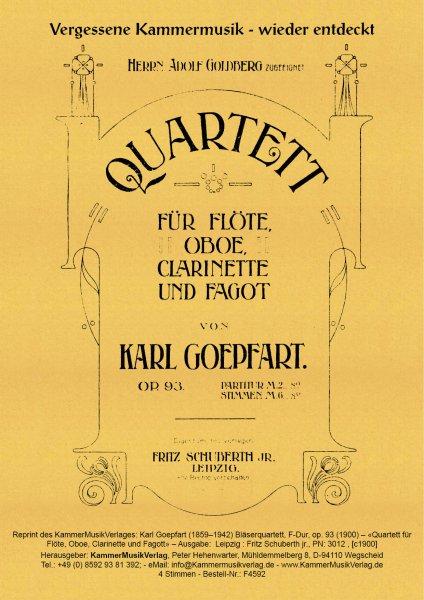 Goepfart, Karl – Bläserquartett, F-Dur, op. 93