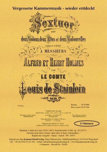 Stainlein, Comte de Louis – Streichsextett, G-Dur, op. 20