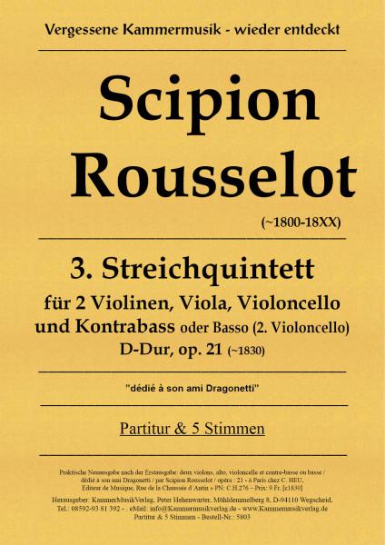 Rousselot, Scipion – Streichquintett Nr. 3, D-Dur, op. 21