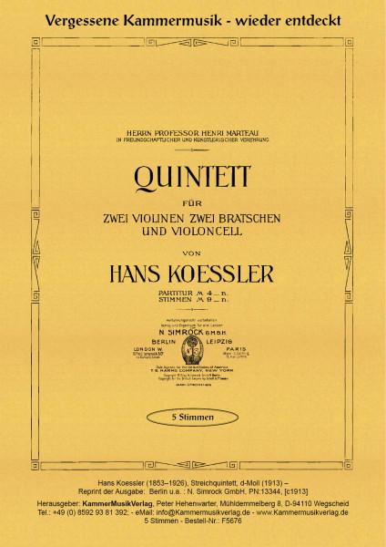 Koessler, Hans – Streichquintett, d-Moll