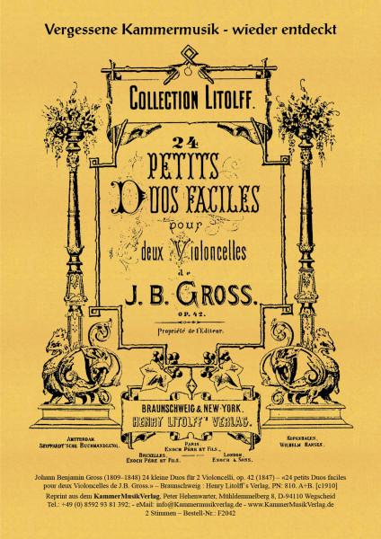 Groß, Johann Benjamin – 24 kleine Duos für 2 Violoncelli, op. 42