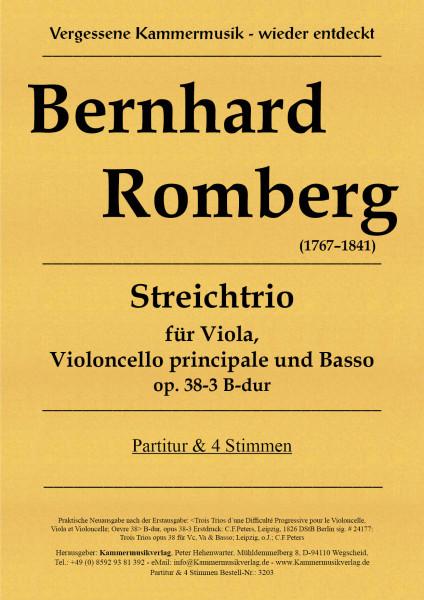 Romberg, Bernhard – Streichtrio für obligates Violoncello, Viola und Basso B-dur, op. 38-3