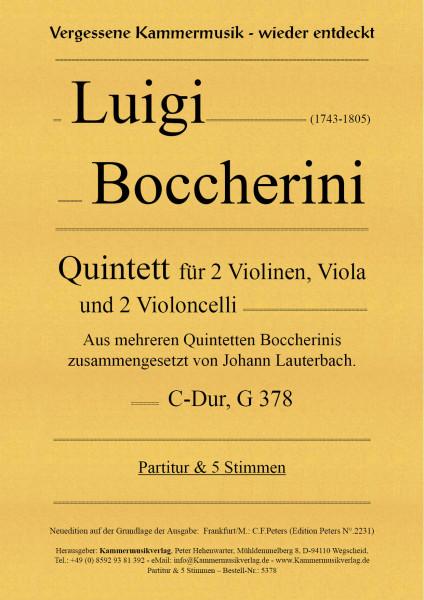 Boccherini, Luigi – Quintett für 2 Violinen, Viola und 2 Violoncelli, C-Dur, G378
