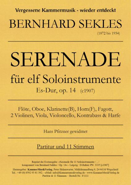 Sekles, Bernhard – Serenade für 11 Soloinstrumente