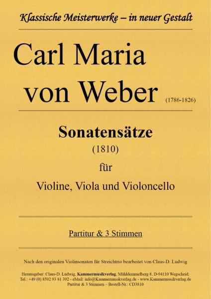 von Weber, Carl Maria – Sonatensätze für Violine, Viola und Violoncello