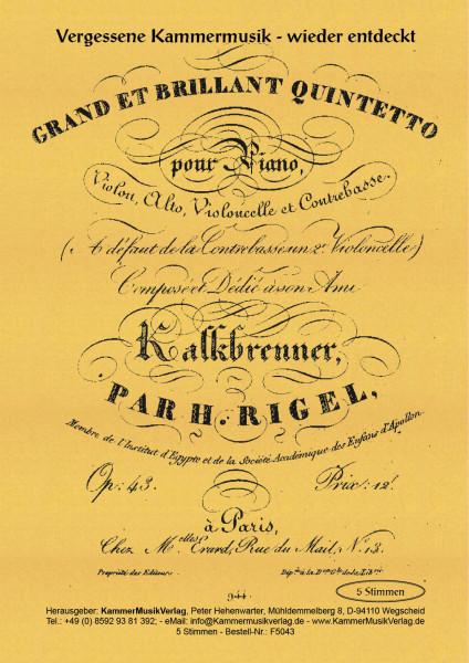 Rigel, Henri-Jean – Klavierquintett, D-Dur (1826)