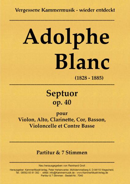 Blanc, Adolphe – Bläser-Streicher-Septett