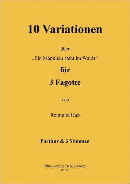 Haß, Reimund – 10 Variationen für 3 Fagotte