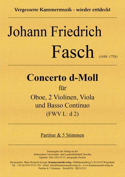 Fasch, Johann Friedrich – Concerto d-Moll (FWV L: d 2)